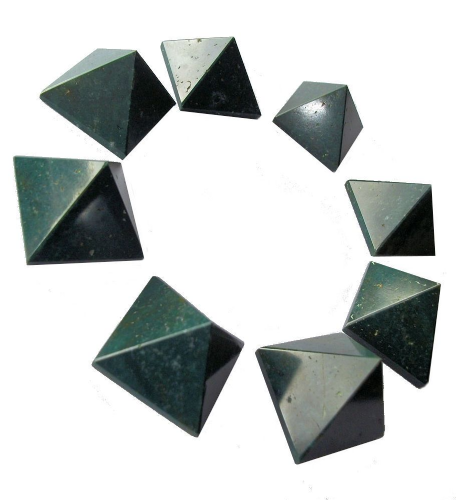 Green Jasper Crystal Pyramid